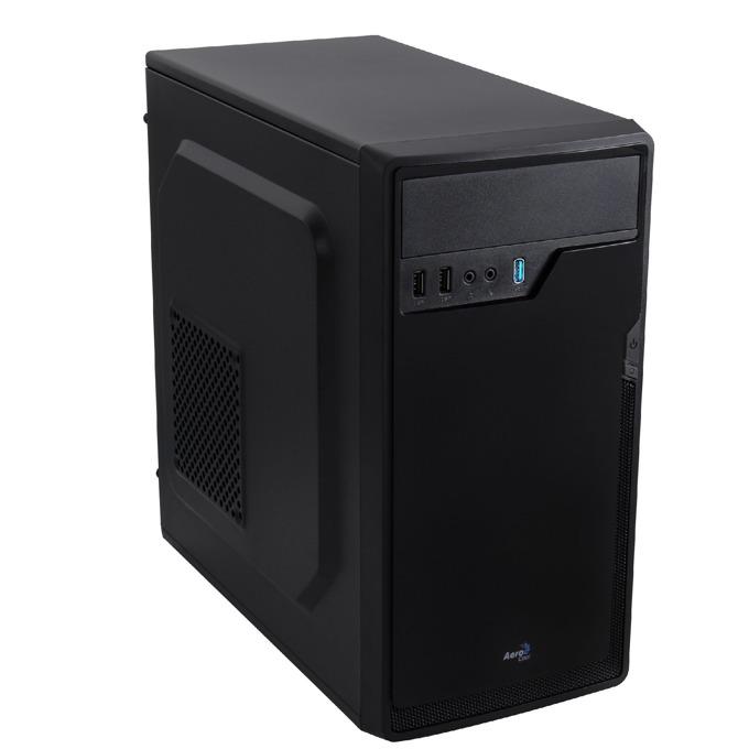 Кутия AeroCool CS-100 Advance, Micro-ATX/Mini-ITX, USB 3.0, 1x 80mm вентилатор, Mini Tower, черна, без захранване image