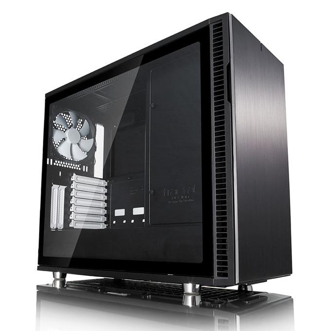 Кутия Fractal Design Define R6 Black TG, eATX/ATX/mATX/ITX, 2x USB 3.0, прозорец, черна, без захранване image