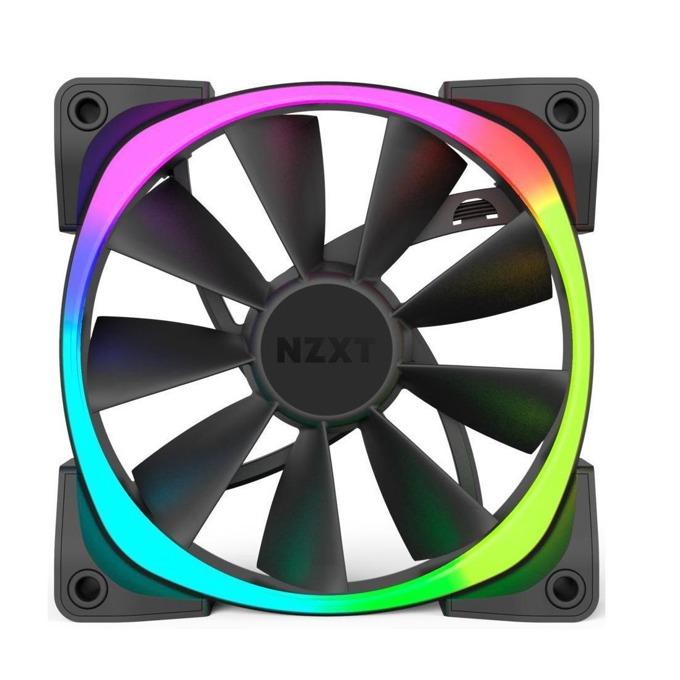 Вентилатор 140mm, NZXT Aer RGB 140, 4-pin, 1500 rpm, черен, подсветка image
