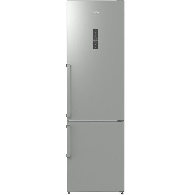 Хладилник с фризер Gorenje NRK 6203 TX, клас A+++, 363 л. общ обем, свободностоящ, 172 kWh/годишно, LED дисплей, MultiFlow 360 система, AdaptTech, CrispZone, ZeroZone, сив image