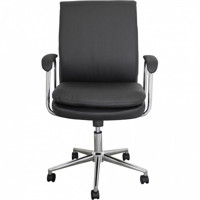 Офис стол OKOffice Colombo, хромирана база, еко кожа, до 130 кг, черен image