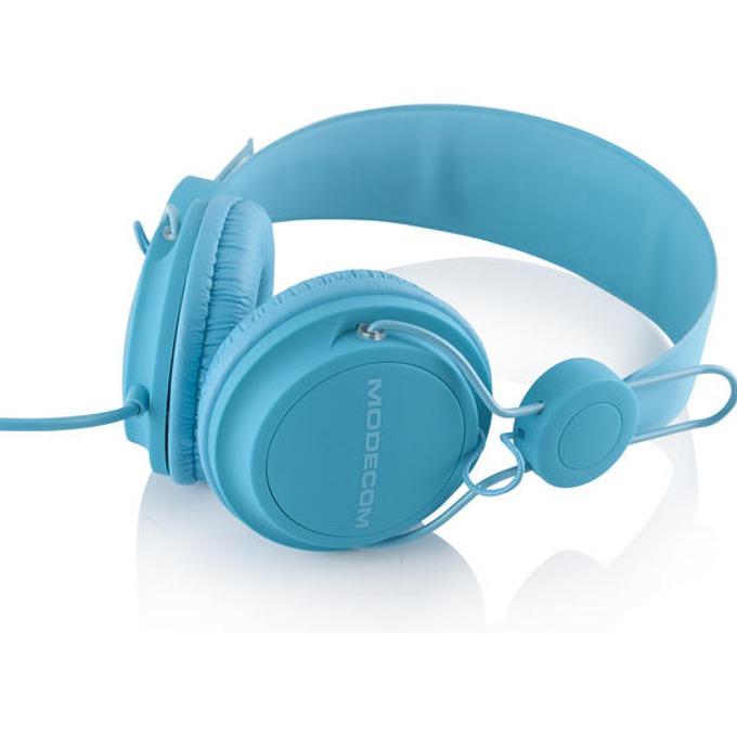 Слушалки Modecom MC-400 FRUITY, микрофон, сини image