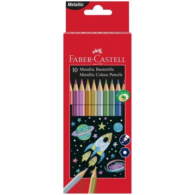 Faber-Castell Цветни моливи 10 металикови цвята