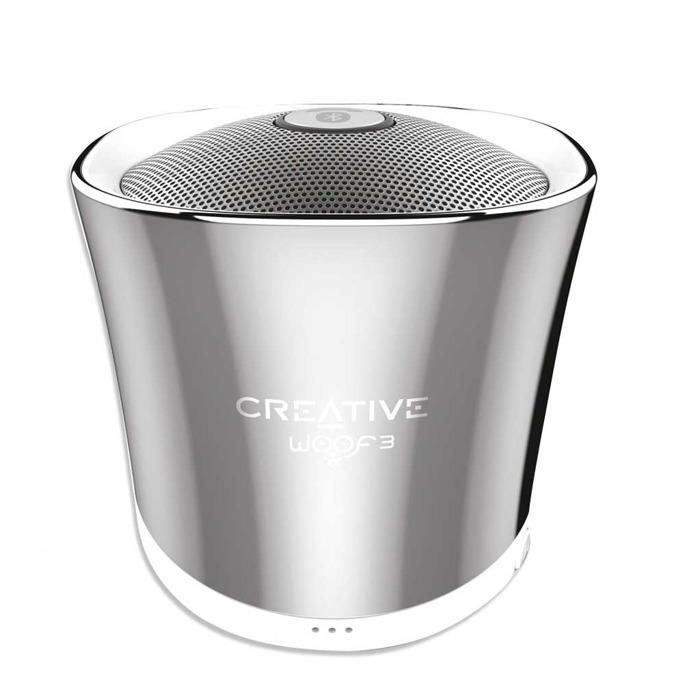 Тонколона Creative WOOF3, 1.0, RMS 2W, Bluetooth/USB, сребриста, вграден микрофон, преносима-жична image