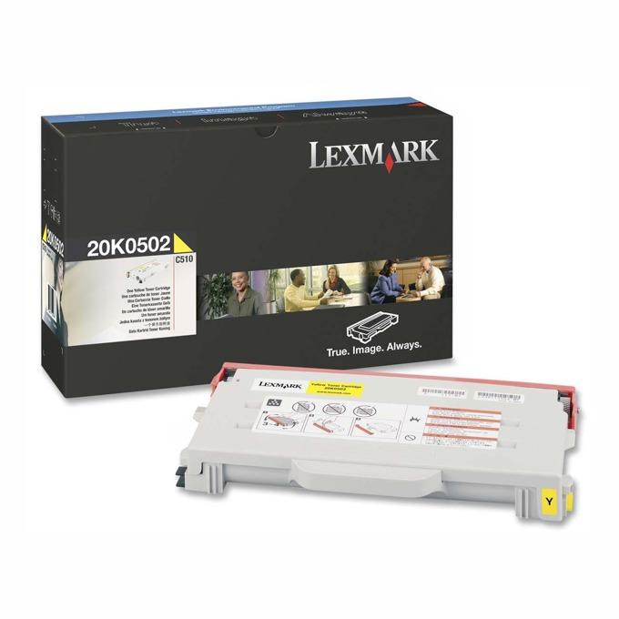 КАСЕТА ЗА LEXMARK OPTRA C 510 - Yellow - P№ 20K0502 - заб.: 3000k image