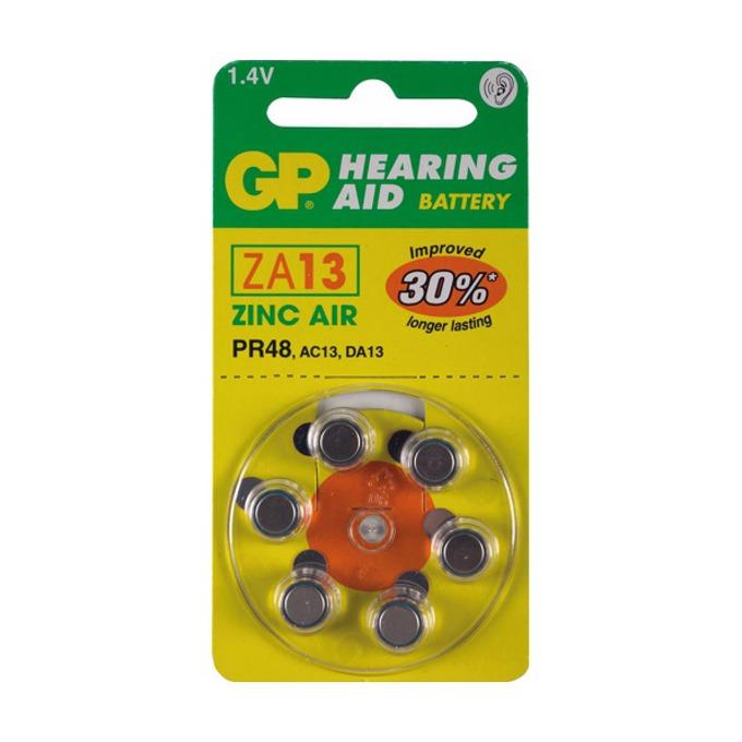 Батерии цинкови GP Hearing Aid ZA13, 1.4V, 6 бр. цена за 1 бр.   image
