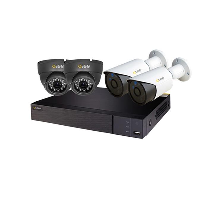 """Комплект за видеонаблюдение 2бр. AHD куполни камери Q-See QH7080D водоустойчиви IP66 1920х1080 3.6mm lens + 2бр. AHD насочена""""булет"""" камера Q-See QH7080B водоустойчиви IP66 1920х1080 3.6mm lens + 1бр. DVR Q-See QTH94 image"""