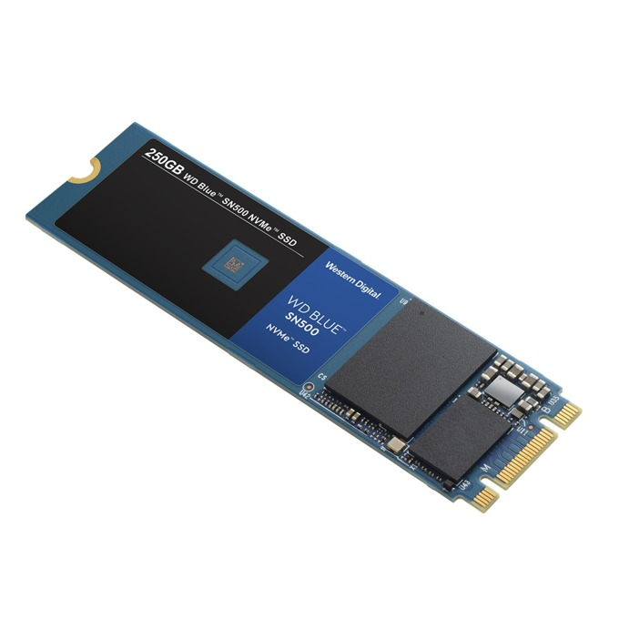 SSD 250GB WD Blue SN500, NVMe, M.2 (2280), скорост на четене 1700MB/s, скорост на запис 1300MB/s image