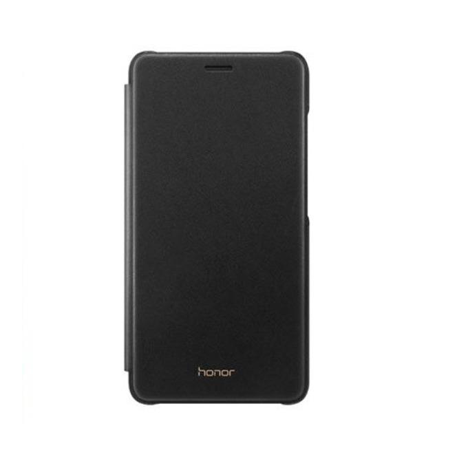 Калъф за Huawei Honor 7 Lite, тип портфейл, еко кожа, Huawei Flip Case 51991701, черен image