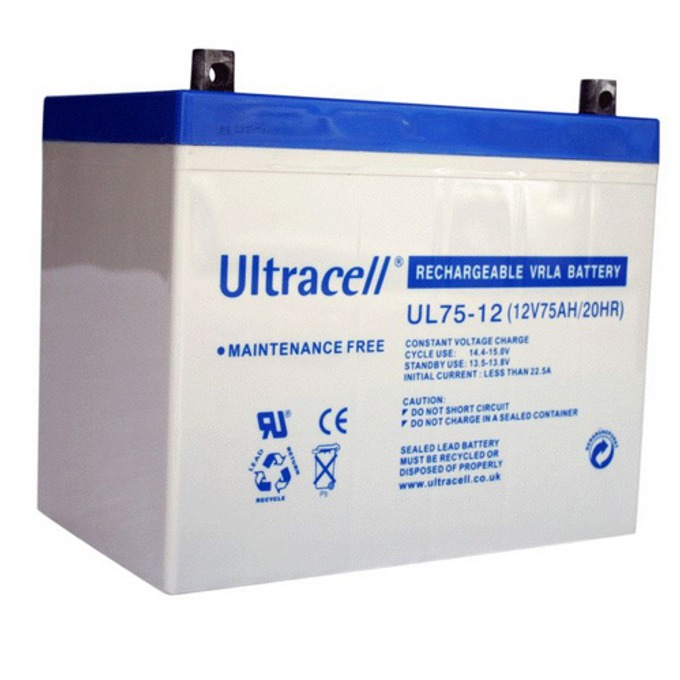 Акумулаторна батерия Ultracell 75-12, 12V, 75Ah image