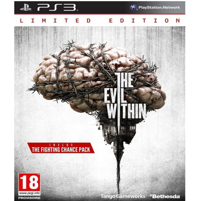 The Evil Within Limited Edition, Съдържа : лентикулярна 3D карта, Sebastian's Diary, DLC The Fighting Chance, за PS3 image