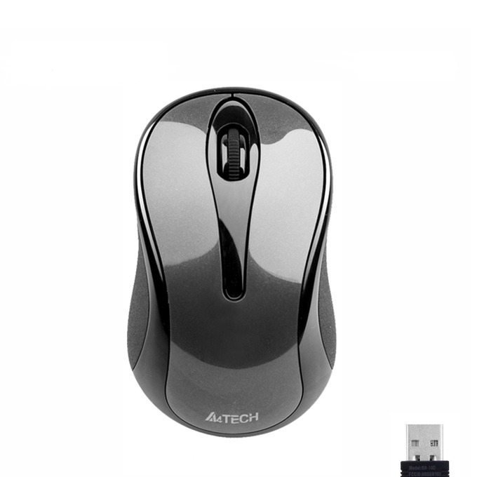 Мишка A4tech G3-280A V-Track, безжична, оптична (1000 dpi), USB, сива image