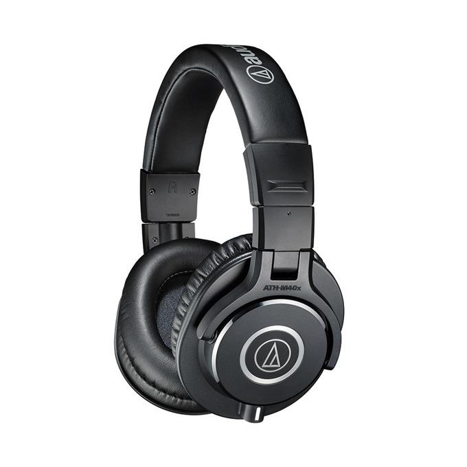 Слушалки Audio-Technica ATH-M40x, за професионален мониторинг, 40мм говорители, 15-24kHz, 98 dB, сваляем кабел, сгъваеми, черни image