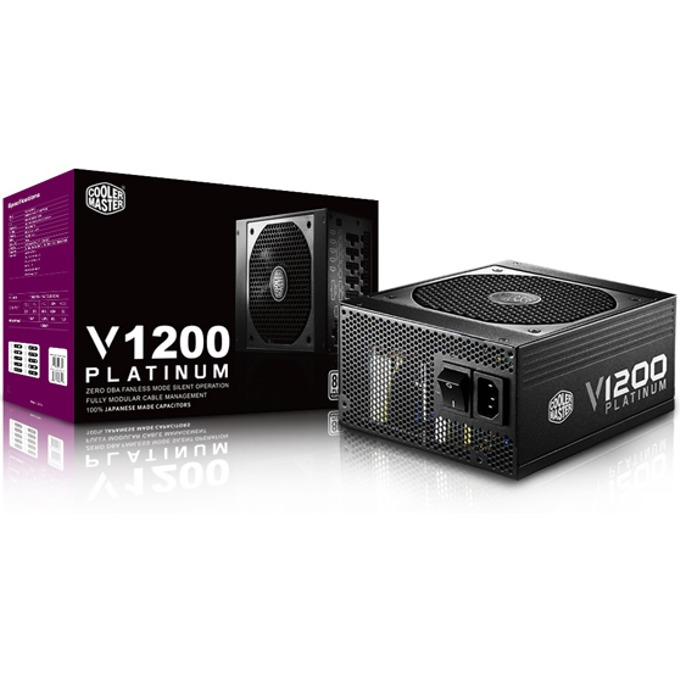 Захранване Cooler Master V1200 Platinum. 1200W, Active PFC, 80+ Platinum, 135mm вентилатор image