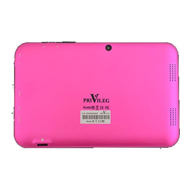 "Таблет Privileg MID-74A (розов), 7"" (17.78 cm) дисплей, четириядрен Cortex A9 1.2GHz, 1GB RAM, 8GB Flash памет (+ MicroSD слот), 2.0 & 0.3 Mpix камера, Android 4.2, 322g image"