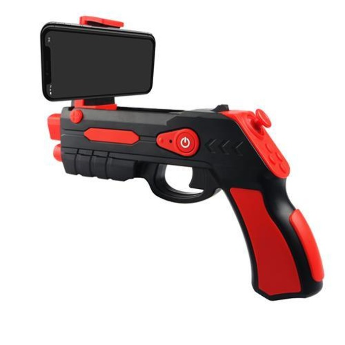 Джойстик Omega Remote Augmented Reality Gun Blaster, съвместим с Android/iOS, Bluetooth, черен/червен image