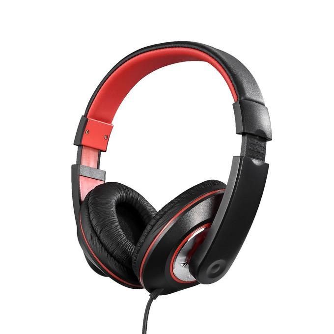 Слушалки Amplify Groove AM2006/BKR, 40мм говорители, мощен бас, черни-червени image