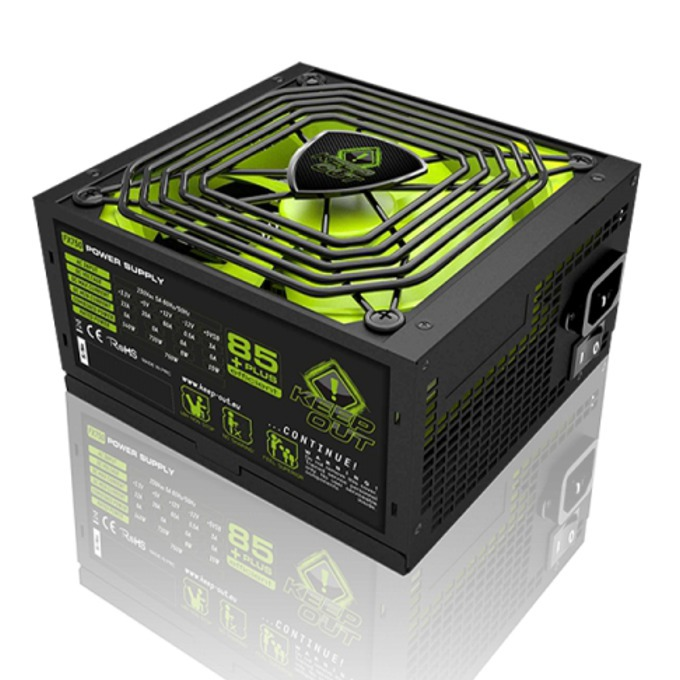 Захранване KEEPOUT FX900, 900W, Active PFC, 85 plus, 140мм вентилатор image