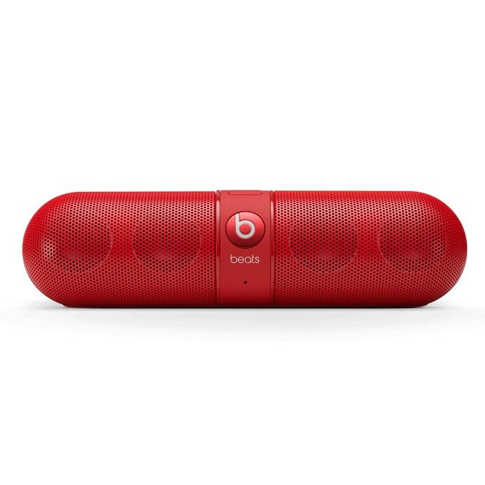 Тонколона Beats by Dre Pill 2.0 Wireless Speaker, 2.0, RMS 12W (6W + 6W), Bluetooth, червена, безжична аудио система, микрофон, оптимизирани за iPhone/iPad/iPod image