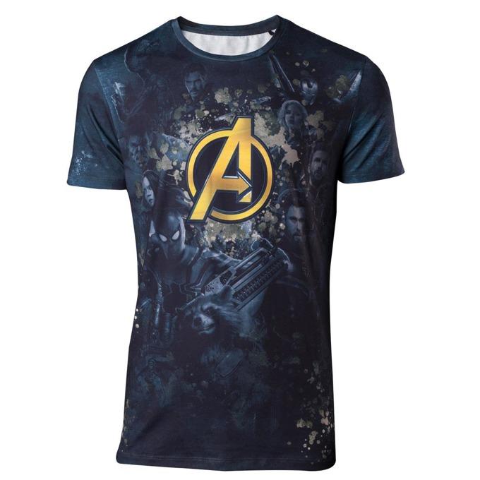 Тениска Bioworld Avengers Infinity War Team Sublimation, размер XL, синя image