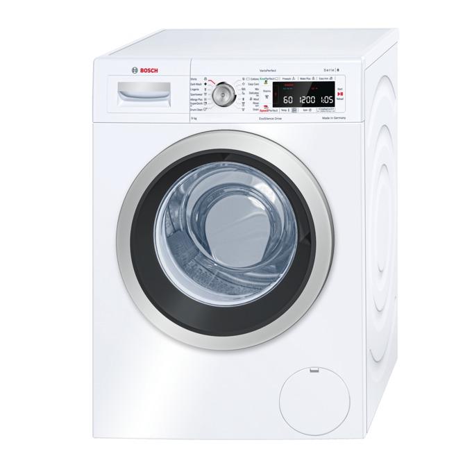 Перална машина Bosch WAW28560EU, клас А+++, 9кг. капацитет, 1400 оборота в минута, свободностояща, 60 cm. ширина, LCD дисплей, електронно управление, VarioPerfect функция, бяла image