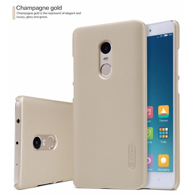 Калъф за Xiaomi Redmi Note 4X, страничен с гръб, висококачествена пластмаса, Nillkin, златист image