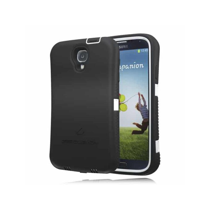 Протектор Zerolemon с батерия за Samsung Galaxy S4 (R), черен с бял кант image