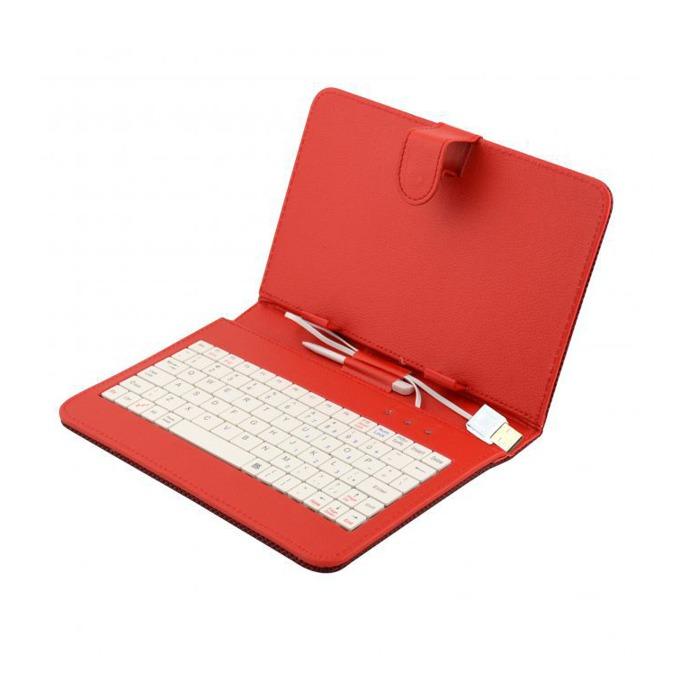 "Калъф Privileg за таблет до 7"" (17.78 cm), ""бележник"", червен, с клавиатура  image"