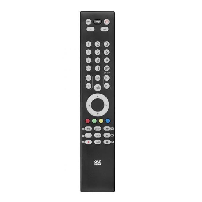 Дистанционно One For All Slim Line 2 URC3920, контролира до 2 устройства, IR обхват 15 метра, брой бутони 45, 2 х AAA, 80g image
