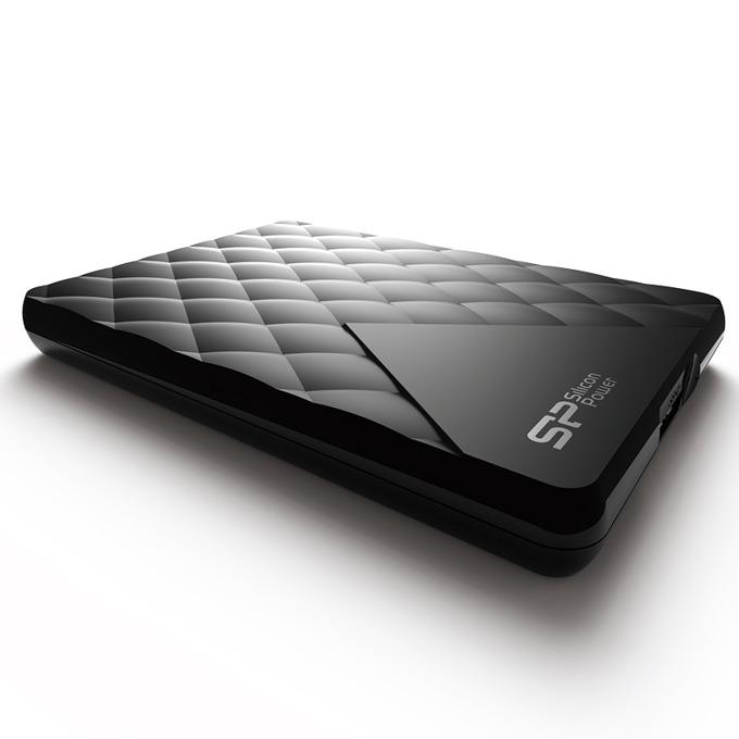 """Твърд диск 1TB Silicon Power Diamond D06, черен, 2.5"""" (6.35 cm), външен, USB3.0 image"""