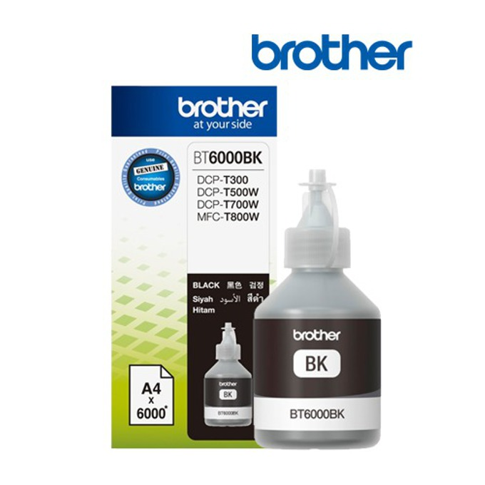 МАСТИЛО BROTHER DCP-T300/DCP-T500W/DCP-T700W/MFC-T800W - Black - BT6000BK - Заб.:6000p. image