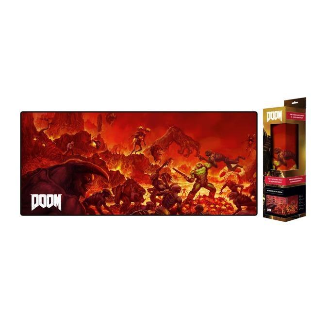 "Подложка за мишка Gaya Doom ""Retro"", гейминг, многоцветна, 800 x 350 x 4 mm image"