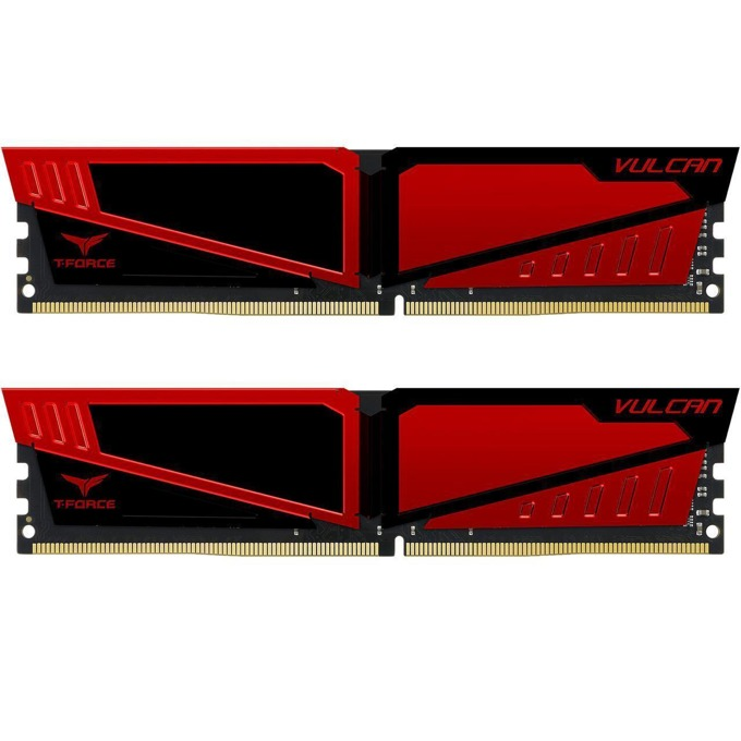 32GB (2x16GB) DDR4 2666MHz, Team Group T-Force Vulcan, TLRED432G2666HC15BDC01, 1.2V image