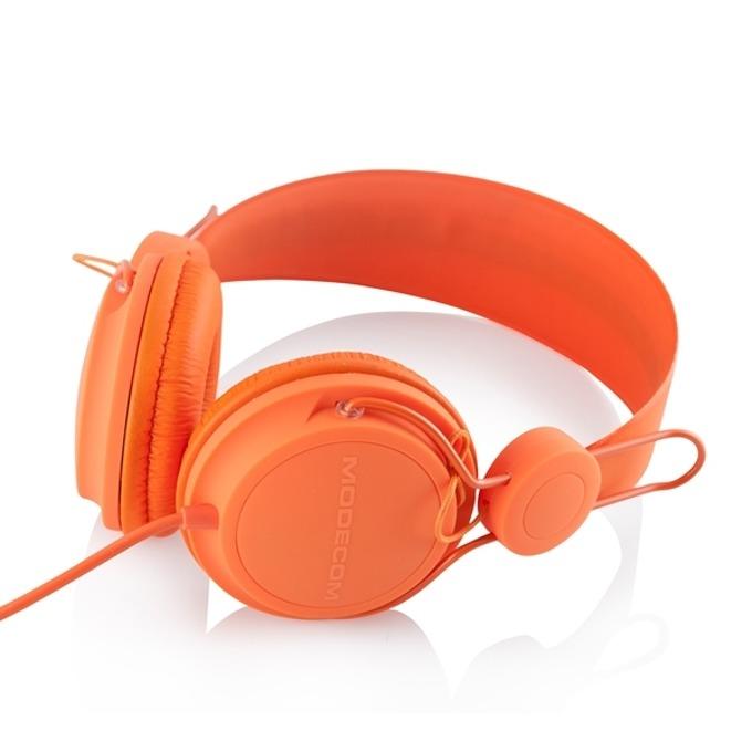 Слушалки Modecom Volcano MC-400 FRUITY, микрофон, оранжеви image