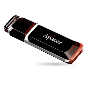 32GB USB Flash Drive, Apacer AH321, USB 2.0, червена image