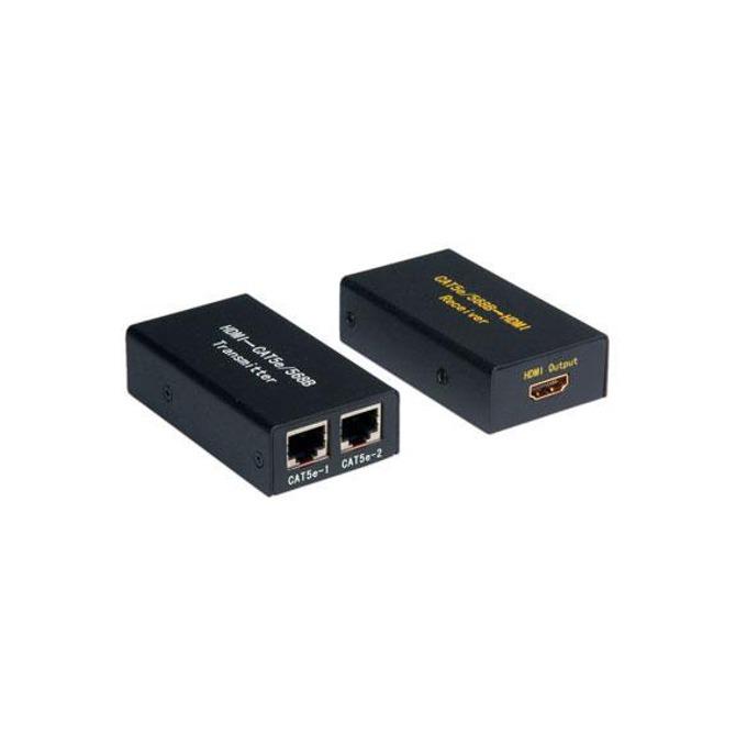 Конвертор/удължител ROLINE 14.99.3460, HDMI(ж) към 2x RJ45(ж), до 25m чрез Cat. 5e кабел, черен image