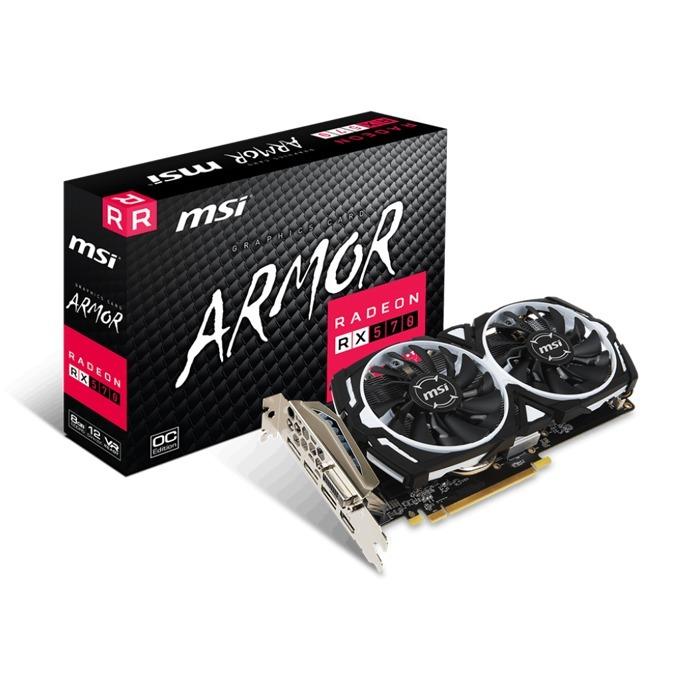 Видео карта AMD Radeon RX 570, 8GB, MSI Radeon RX 570 ARMOR 8G OC, PCI-E 3.0, GDDR5, 256bit, 3x DisplayPort, 1x HDMI, 1x DVI image