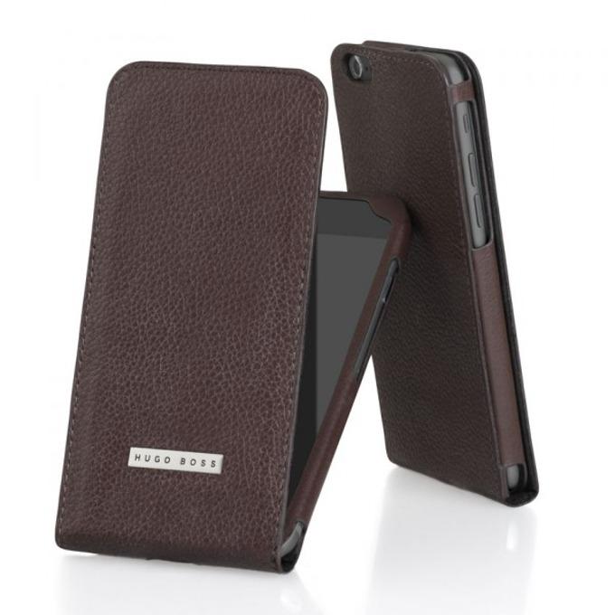 Калъф за iPhone 6, Flip cover, кожен, HUGO BOSS Reflex Flipcase, луксозен, кафяв image