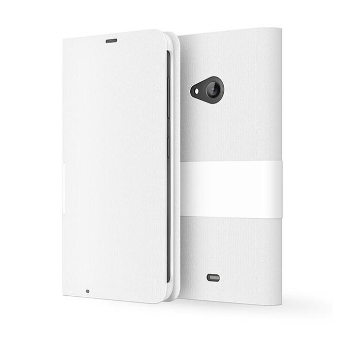 Калъф за Nokia Lumia 535, Flip Cover, бял image
