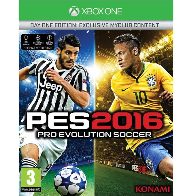 Игра за конзола Pro Evolution Soccer 2016 Day 1 Edition, Бонусите включват: 1x Играч на годината, 1x Играч за 10 мача, 10,000 GP x 10 седмици, фигурка на Neymar JR, за XBOX ONE image