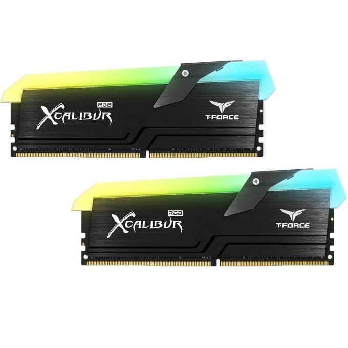 Памет 16GB (2x 8GB) DDR4 3600MHz, TeamGroup T-Force Xcalibur RGB TF6D416G3600HC18EDC01, 1.35V, RGB подсветка image