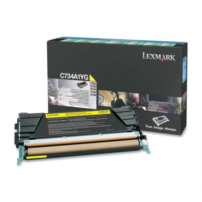 КАСЕТА ЗА LEXMARK OPTRA C734/C736/X734/X736/X738 - Yellow - P№ C734A1YG - заб.: 6000k image