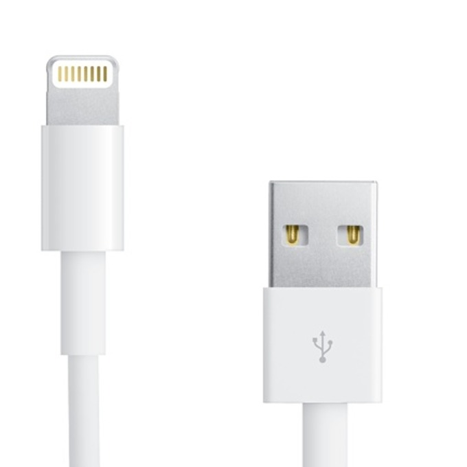 Кабел OEM Lightning to USB Cable 2m., от USB A (м) към Lightning, 2m, бял image