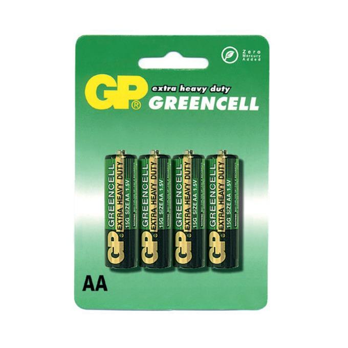 Батерии цинкови GP Greencell АА, 1.5V, 4 бр. image
