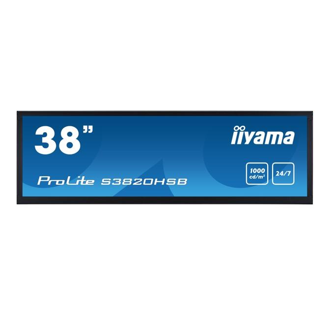 "Дисплей Iiyama S3820HSB-B1, 38"" (96.52 cm), Full HD, HDMI, VGA, DVI-D, USB image"