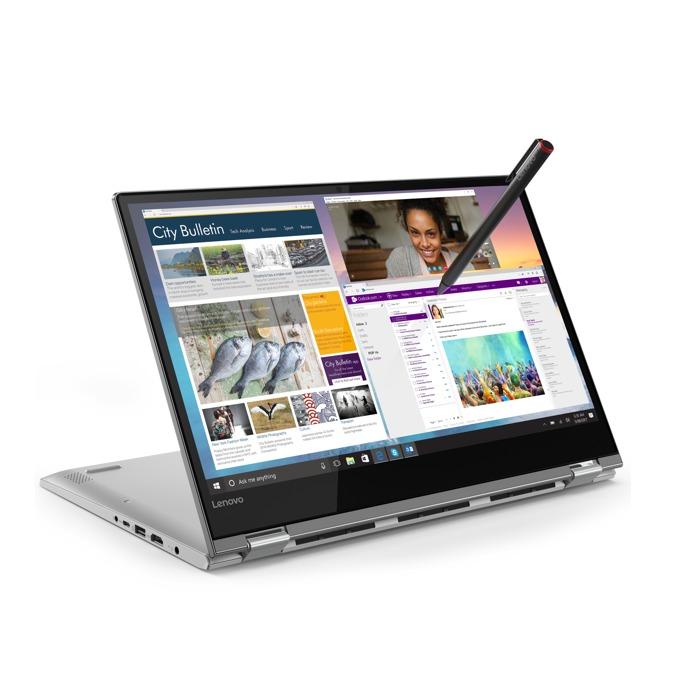 "Лаптоп Lenovo Yoga 530 (81EK00RKBM)(сив), четириядрен Kaby Lake R Intel Core i7-8550U 1.8/4.0 GHz, 14"" (35.56 cm) Full HD IPS Anti-Glare Touchscreen Display, (HDMI), 8GB DDR4, 256GB SSD, 1x USB-C, Windows 10, 1.6 kg  image"