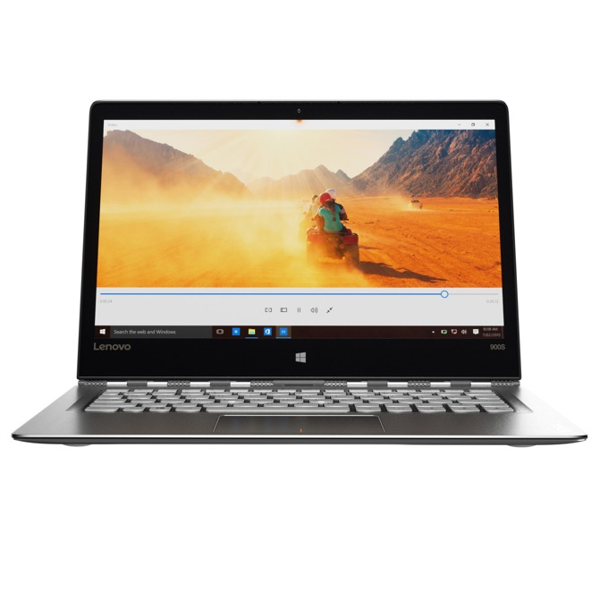 "Лаптоп Lenovo Yoga 900S-12ISK (80ML005PBM)(сребрист), дву-ядрен Skylake Intel Core m7-6Y75 1.2/3.1GHz, 12.5"" (31.75 cm) сензорен мулти-тъч IPS QHD LED Display, 8GB, 512GB, USB 3.0 (Type-C), Windows 10, 0.99kg image"