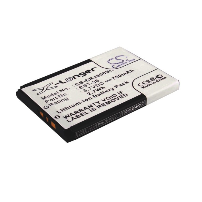 Батерия (заместител) за телефон SONY BST-33, J300, K510, 750mAh/3,7V  image
