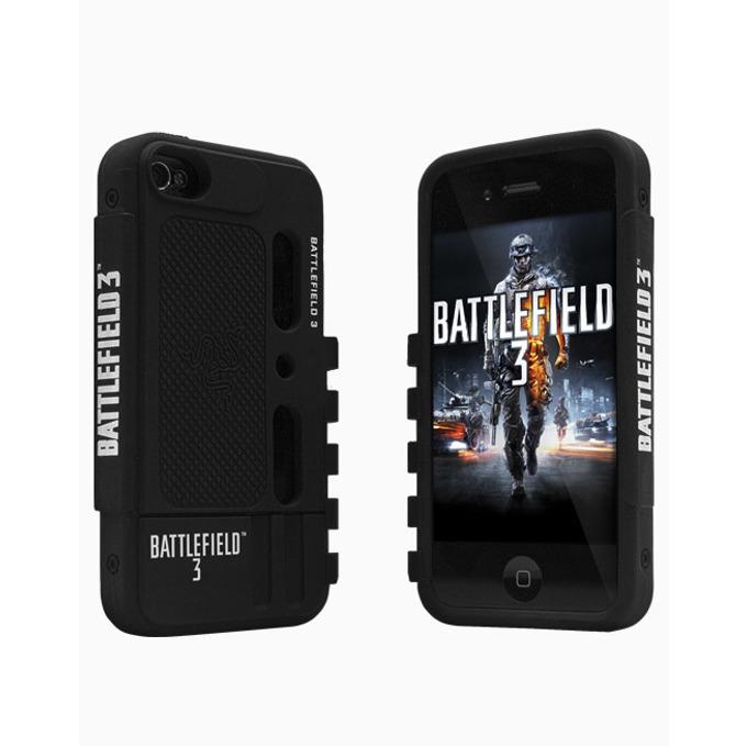 Калъф за Apple iPhone 4/4s, силиконов, Razer Battlefield 3, черен image