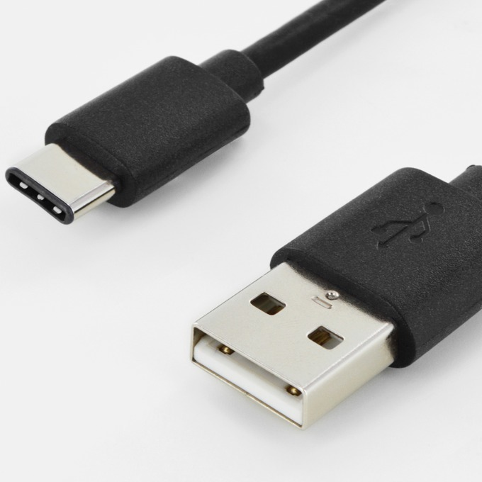 Кабел ASSMANN AK-300136-018-S, USB A(м) към USB C(м), 1.8m, никелирани накрайници, черен image